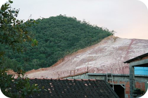 Deforestation in Brazil reveals the underlying clay-rich soil