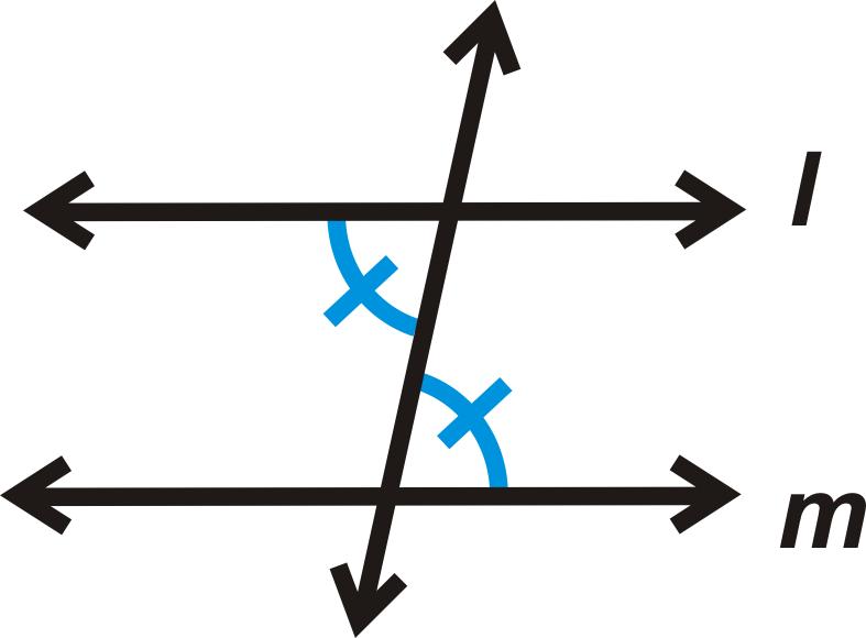 Alternate Interior Angles : Example a