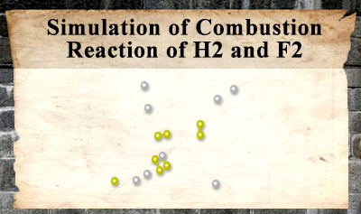 Simulation of Combustion Reaction of H2 and F2