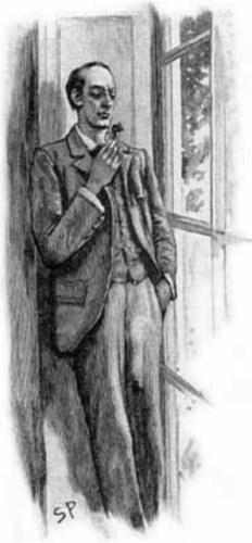 Drawing of Sherlock Holmes