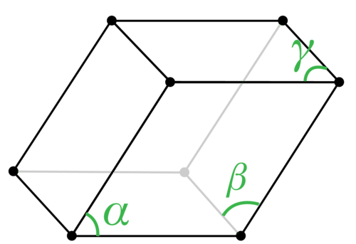 Structure of a triclinic crystal