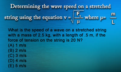 Speed of Mechanical Waves - Example 5