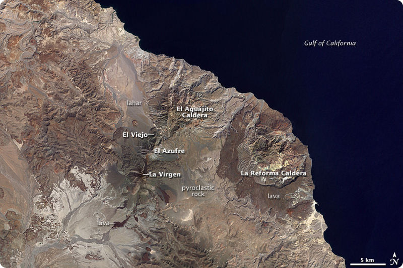Volcanism in Baja California is evidence of rifting