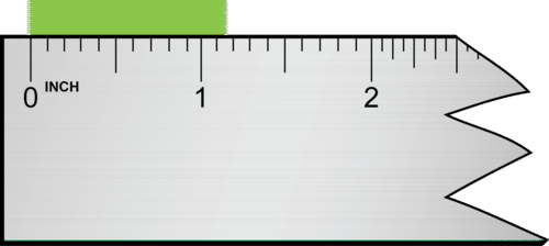 This measurement is read as 1.15 or 1.16 inches, which has three significant figures