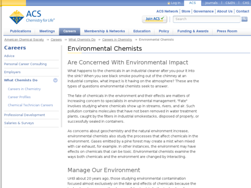 Environmental Chemists