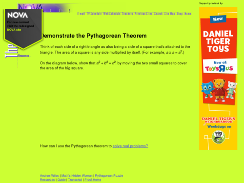 Demonstrate the Pythagorean Theorem
