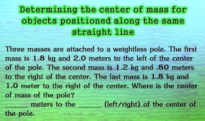 Center of Mass - Example 1