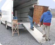 Object being moved up ramp