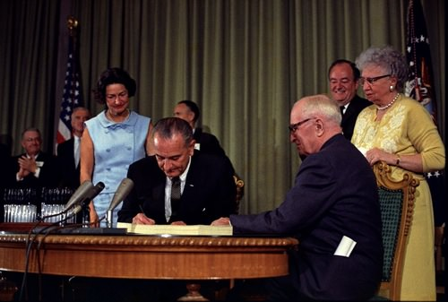 Signing Medicare into Law