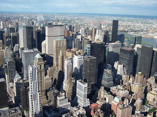 Manhattan, New York is one of the most heavily populated regions in the world