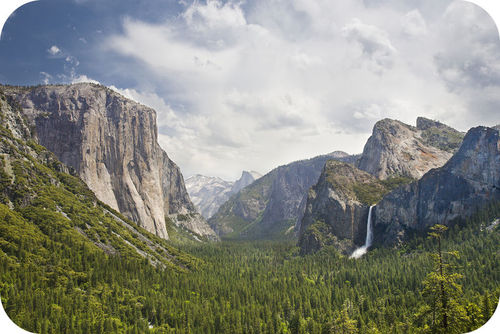 Yosemite is an example of a hanging valley