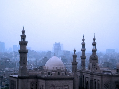 This layer of smog over Cairo is typical of the city