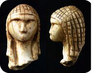 Stone figurines created by early Homo sapiens