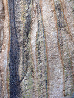 A foliated metamorphic rock