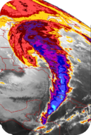 "The 1993 ""Storm of the Century"" was a nor'easter that covered the entire eastern seaboard of the United States"