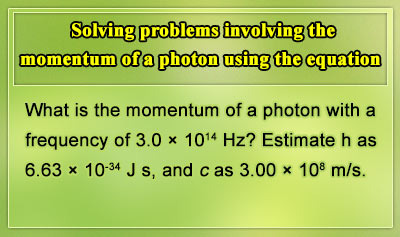 Momentum of a Photon and the Heisenberg Uncertainty Principle - Example 1