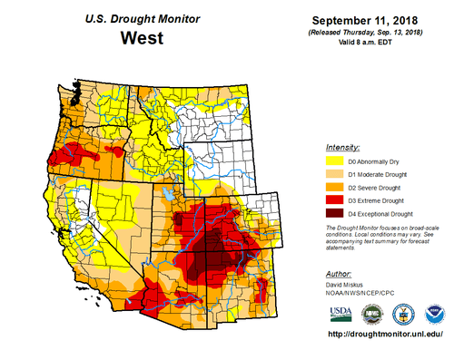 Figure showing recent droughts in western US