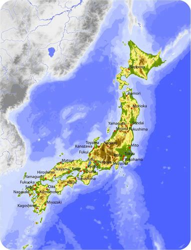 Japan is an island arc that lies at the intersection of the North American, Filipino, and Eurasian plates