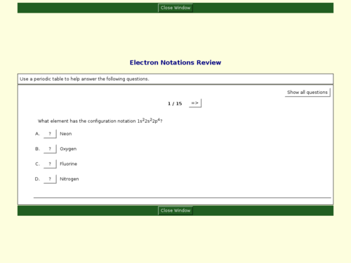 Electron Notations Review