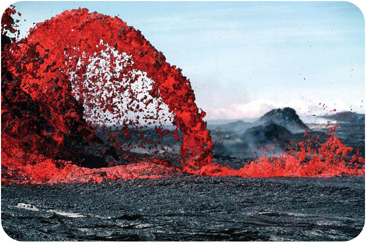 Extrusive igneous rocks form after lava cools above the surface