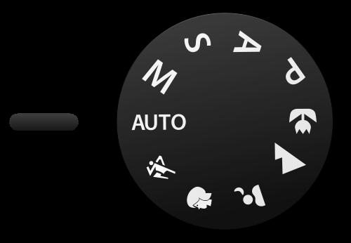 digital camera mode settings dial