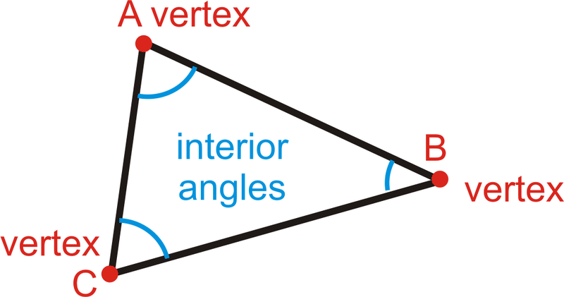 Triangles Have Three Interior Angles, Three Vertices And Three Sides. A  Triangle Is Labeled By Its Vertices With A △. This Triangle Can Be Labeled  ...