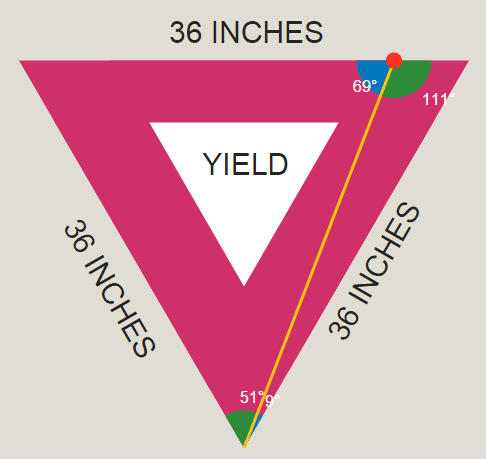 30-60-90 Right Triangles: Yield Sign