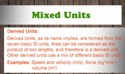 Mixed Units - Overview