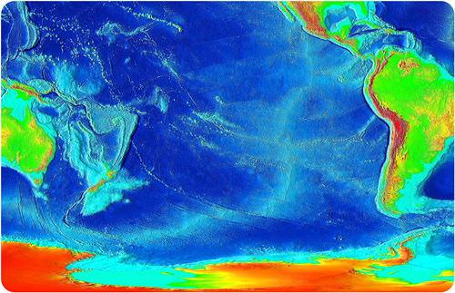 Map of volcanoes in the Pacific Ocean