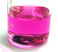 Phenolphthalein turns pink in basic solutions