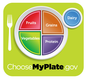 MyPlate replaced MyPyramid in 2011 and gives a visual guideline for healthy eating
