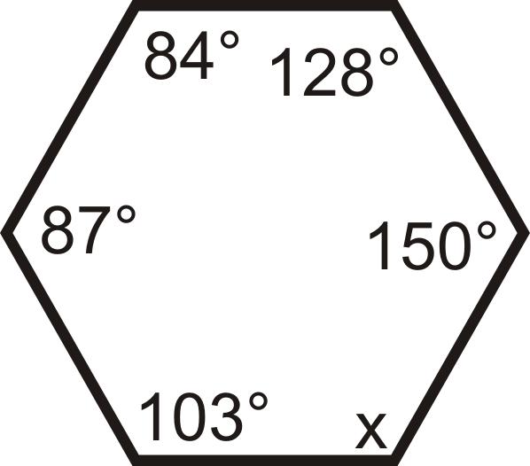 Hexagon Sum Of Interior Angles