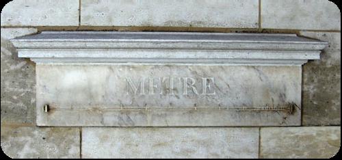 Standard Meter in the 18th century