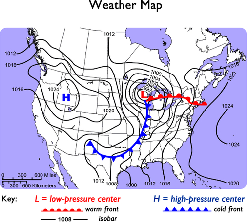 weather maps read earth science ck 12 foundation. Black Bedroom Furniture Sets. Home Design Ideas
