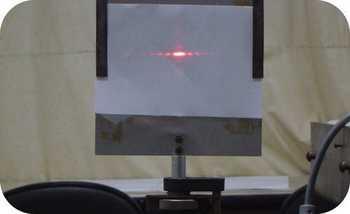 Light diffracting through a single slit