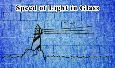 Speed of Light in Glass