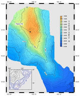 Bathymetric map of Loihi volcano in Hawaii