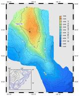 Bathymetric map of Loihi volcano in Hawaii