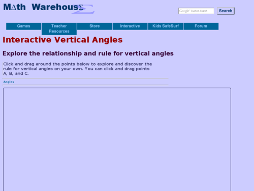 Interactive Vertical Angles