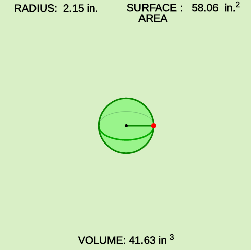 Surface Area and Volume of a Sports Ball