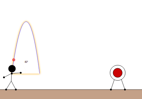 Projectile Motion for an Object Launched at an Angle: The long throw
