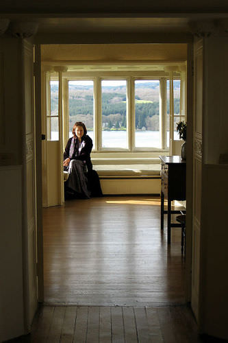 woman in a room seen from the doorway