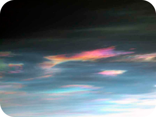 Picture of polar stratospheric clouds