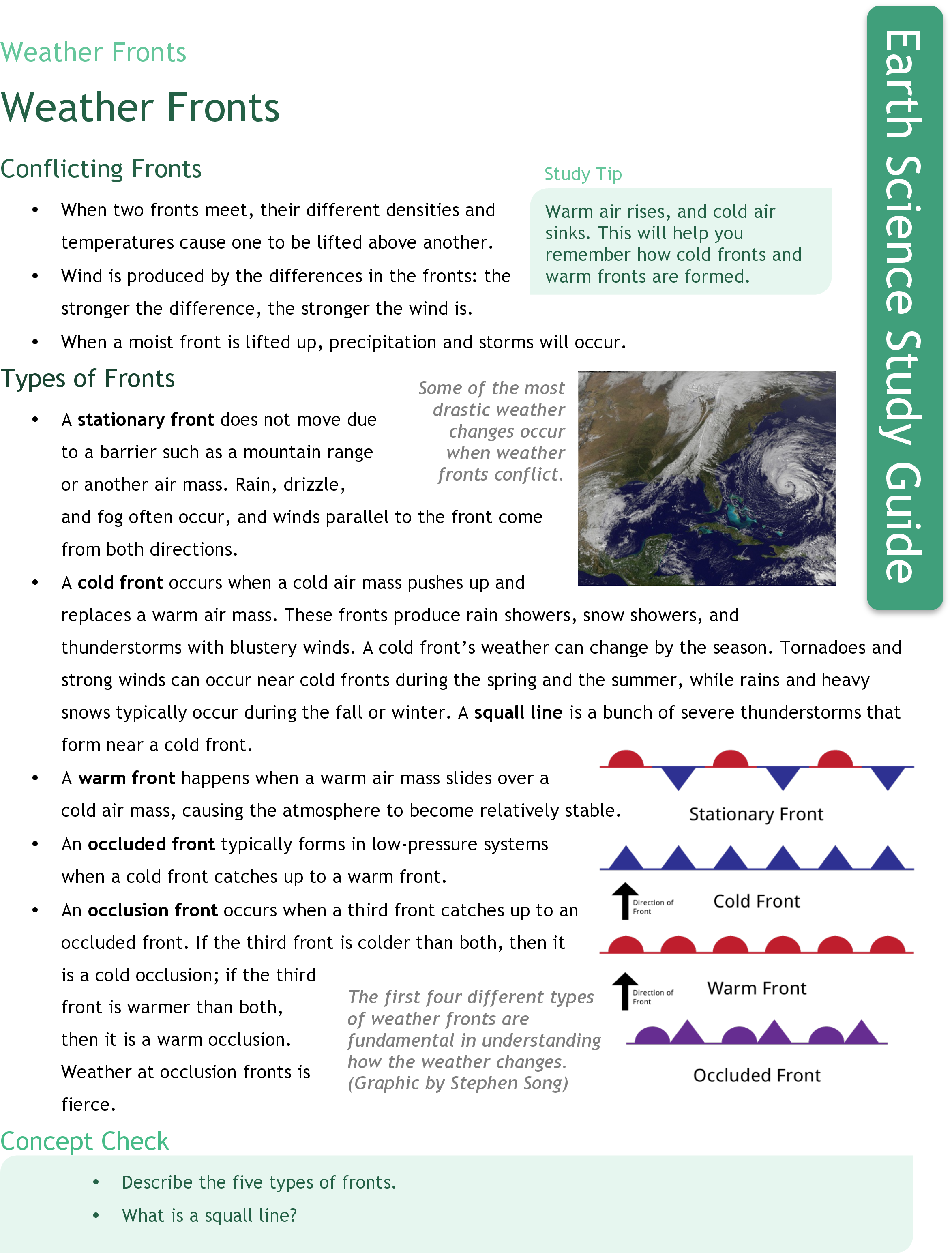 Worksheets Air Masses And Fronts Worksheet fronts ck 12 foundation weather study guide