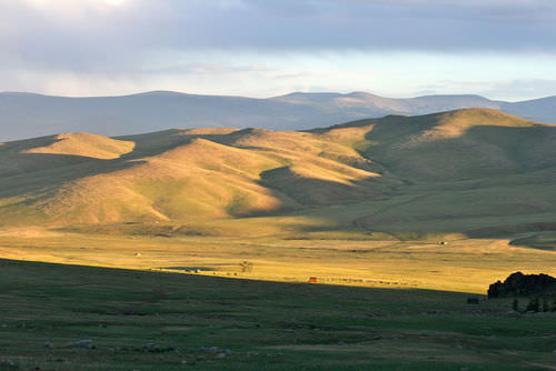 A steppe in Mongolia