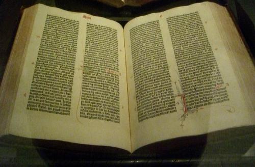 A Gutenberg bible.