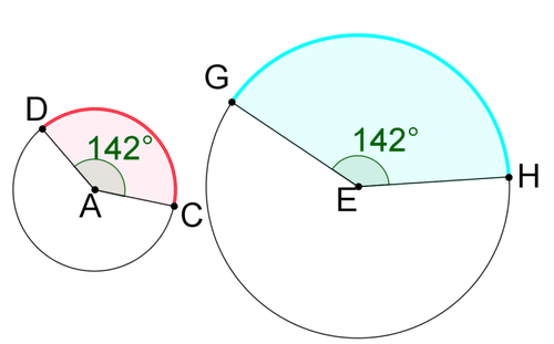 how to find the angle of an arc length