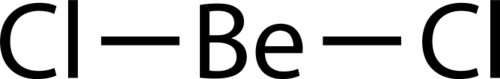 Structureof beryllium chloride