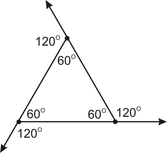 Triangle sum and exterior angle theorems ck 12 foundation - The exterior angle of a triangle is equal to ...