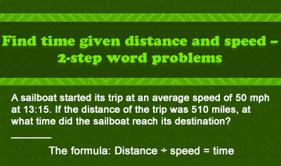 Calculating Distance, Rate, and Time - Example 4